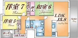 コート須磨高倉町さくらみち[5階]の間取り
