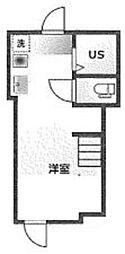仮)アーバンプレイス高田馬場1丁目 2階ワンルームの間取り