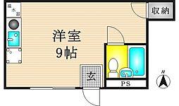 ソレイユ鶴見橋[1階]の間取り