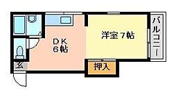 悦美荘[105号室]の間取り