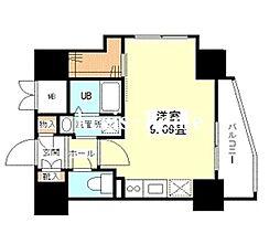東京都千代田区九段南3丁目の賃貸マンションの間取り