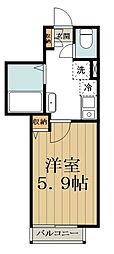 (仮称)中野区大和町計画 3階1Kの間取り