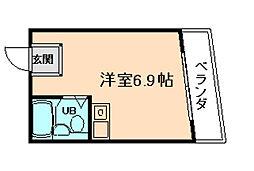 グローバル槻木[1階]の間取り