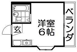 共栄ハイツ北山第2[2階]の間取り