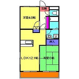 ヤマリハウス[2階]の間取り