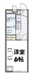 小田急小田原線 鶴川駅 バス12分 五反田下車 徒歩2分の賃貸マンション 2階1Kの間取り