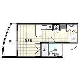 ステイタスマンション姪浜[5階]の間取り
