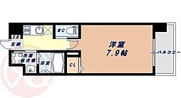 Osaka Metro千日前線 桜川駅 徒歩9分の賃貸マンション 6階1Kの間取り