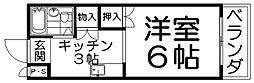大阪府枚方市牧野阪1丁目の賃貸アパートの間取り