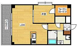 KDXレジデンス天神東II[8階]の間取り