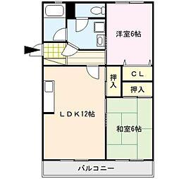コーポ清風台[2階]の間取り