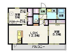 仮称 平戸町メゾンB棟 2階2LDKの間取り