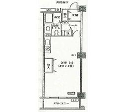 アクティ目黒駅前 1号棟[7階]の間取り