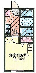G・Aタウン鶴ヶ峰[201号室]の間取り