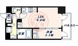 Osaka Metro御堂筋線 昭和町駅 徒歩3分の賃貸マンション 4階1LDKの間取り