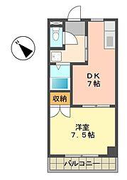 愛知県名古屋市名東区西里町1丁目の賃貸マンションの間取り
