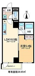 JR総武線 亀戸駅 徒歩12分の賃貸マンション 7階1LDKの間取り