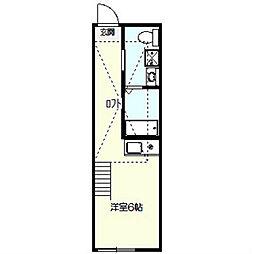 ハーミットクラブハウス戸塚III[1階]の間取り