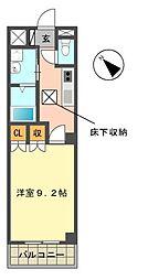 愛知県長久手市市が洞1丁目の賃貸アパートの間取り