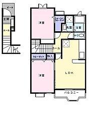 ベル ソレイユ[2階]の間取り