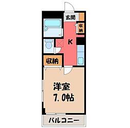 栃木県宇都宮市本丸町の賃貸マンションの間取り