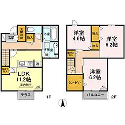 D‐room竹島町[1階]の間取り