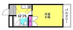 JPアパートメント高砂[8階]の間取り