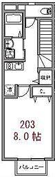 埼玉県川口市戸塚東1丁目の賃貸アパートの間取り