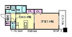 大阪府大阪市北区西天満5丁目の賃貸マンションの間取り