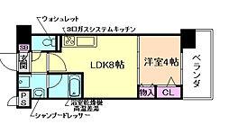 シャイニング福島離宮[4階]の間取り