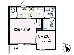 (s)Best Stage鶴瀬I 3階1SKの間取り
