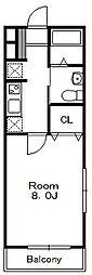 レクサス南八幡[1階]の間取り
