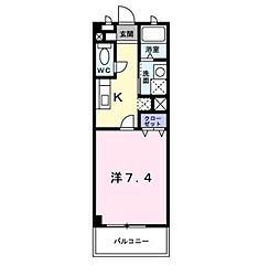 岡山県倉敷市中畝3の賃貸アパートの間取り