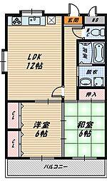 大阪府大阪市城東区今福東1丁目の賃貸マンションの間取り
