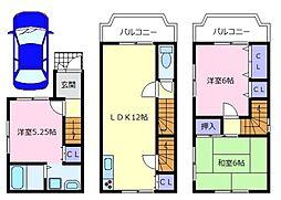 [一戸建] 大阪府松原市別所7丁目 の賃貸【/】の間取り