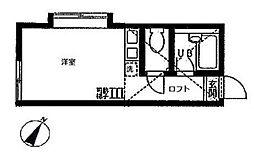 神奈川県横浜市旭区鶴ケ峰本町2丁目の賃貸アパートの間取り