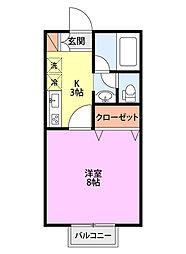 PINI−OYAMA[107号室]の間取り