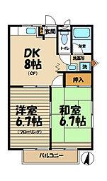 フラッツ・K[203号室]の間取り