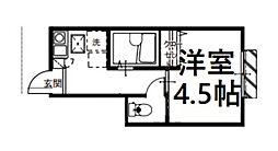 JR埼京線 与野本町駅 徒歩15分の賃貸アパート 1階1Kの間取り