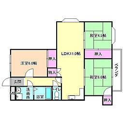 プレアール宮之阪[4階]の間取り