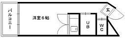 DELTAS[105号室]の間取り