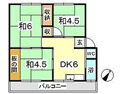 新倉敷マンション C[302号室]の間取り