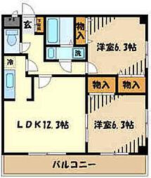 JR五日市線 秋川駅 徒歩15分の賃貸アパート 1階2LDKの間取り