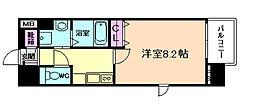 ディクス梅田東レジデンス[3階]の間取り