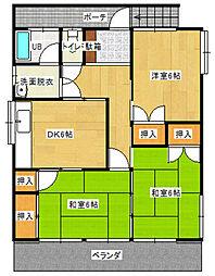 [一戸建] 福岡県福岡市南区皿山4丁目 の賃貸【/】の間取り