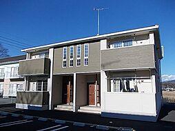 茨城県桜川市岩瀬の賃貸アパートの外観