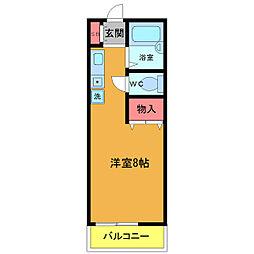 プレミール石井[103号室]の間取り