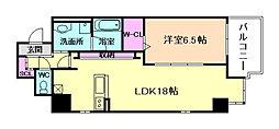 ワイズコート東梅田[7階]の間取り
