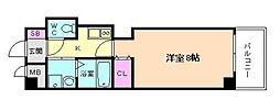 フォレスト梅田西 12階1Kの間取り