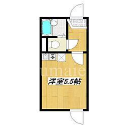 JR総武線 小岩駅 徒歩6分の賃貸アパート 1階ワンルームの間取り